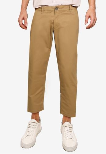 Burton Menswear London beige TAN TAPERED CHINOS D784FAAECD99F5GS_1