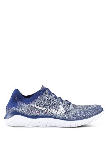 Nike blue Nike Free Rn Flyknit 2018 Shoes 1ECA5SHA9AEAC1GS_1