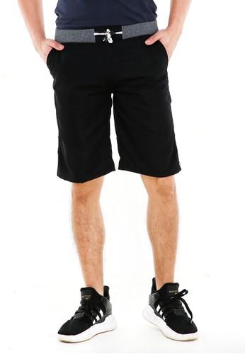 Hamlin black Rishham Short Pants Pria Polos Elastic Rubber Casual Material Cotton ORIGINAL CF336AA2196BE4GS_1