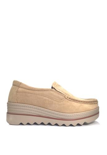 Twenty Eight Shoes beige Cow Suede Loafer Wedge VC3088 EA38ASHF44E60DGS_1