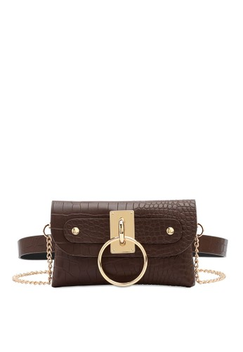 Swiss Polo brown 2-Way Usage Crocodile Textured Bag 0C17DACF049534GS_1