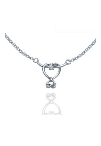 "GOLDHEART gold Goldheart White Gold 750 (18K) ""Love Knot"" Diamond Necklace (B1052) B6A6EACC482B31GS_1"