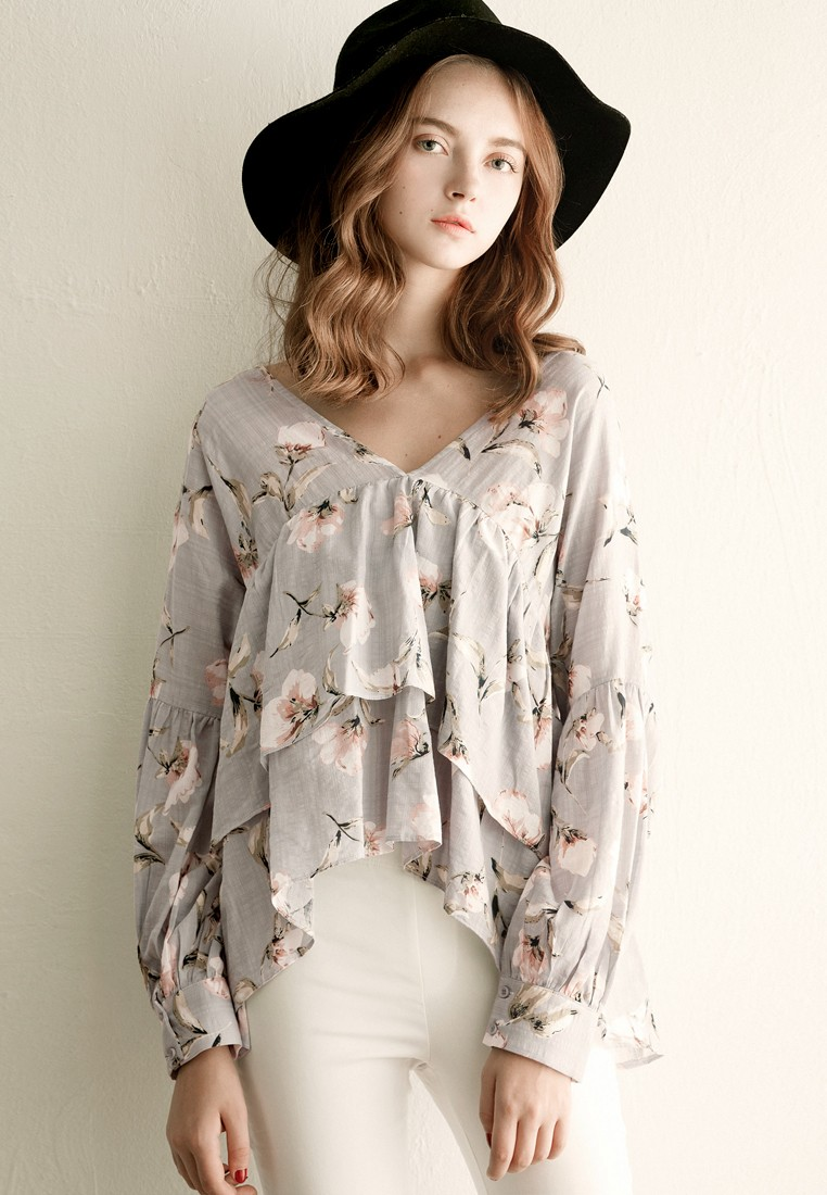 Whimsically Floral Flouncy Top