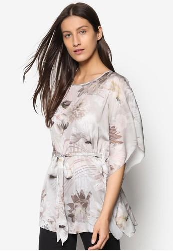 印花繫帶罩衫T-shirt、 服飾、 服飾Wallis印花繫帶罩衫上衣最新折價