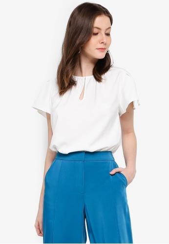 FORCAST white Marleigh Short Sleeve Top 8688CAA043A1FFGS_1