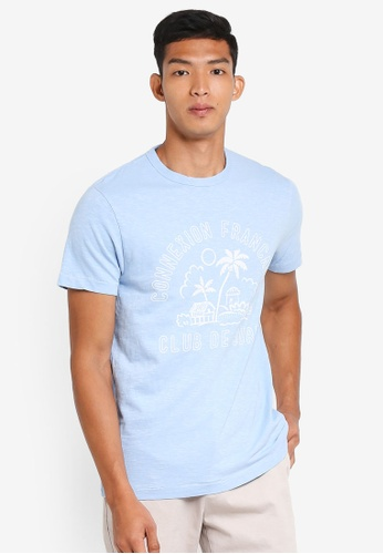 French Connection blue Club De Surf Tee B430BAA4DF4621GS_1