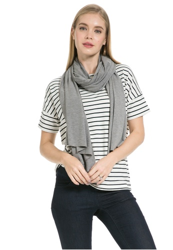 Mayarya grey Multi-way Scarf Nursing Cover 1D040AAF458246GS_1