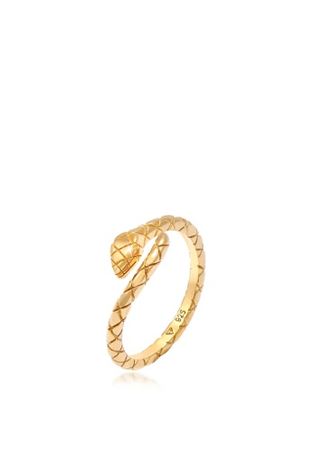 ELLI GERMANY gold Snake Trend Blogger Gold Plated Ring CEB22ACFC7DC2CGS_1