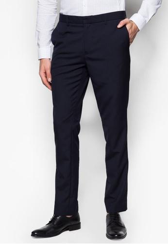 Topman blue Blue Ultra Skinny Fit Trousers TO250AA23JNGSG_1