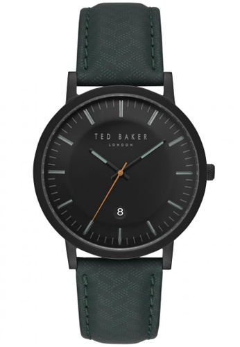 TED BAKER black Ted Baker Men's TE15193003 David Leather Strap  Analog Watch TE877AC0S7GSMY_1
