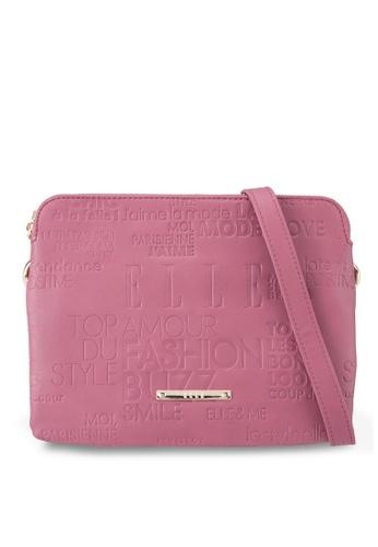 ELLE pink Karel Sling Bag EL900AC68VYPMY_1