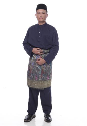 Denai Boutique blue Baju Melayu Faleeq F1B2AAAD947301GS_1
