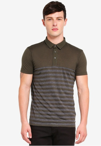 Brave Soul green Short Sleeve Polo Shirt 4F4C6AA3CB875FGS_1