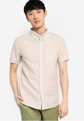 ZALORA BASICS multi Short Sleeve Linen Blend Shirt 28EDAAA2E64CF8GS_1