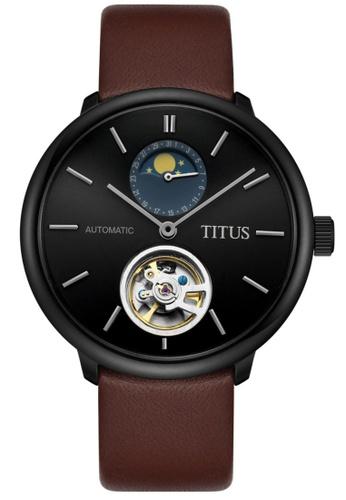 Solvil et Titus black and brown Men's Interlude Automatic Watch SO598AC64SZJSG_1
