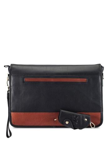 RAV Design black Leather Messenger Bag RA113AC0RW45MY_1