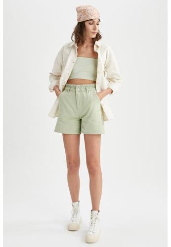DeFacto green Paperbag Cotton Short 69504AAF1A7416GS_1