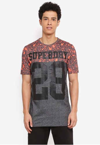 Superdry black City Number Long Line Tee 594C5AA1C9A977GS_1