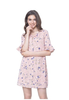 fa9b16b6ac6f47 JoeyL Fashion blue Basics -Faure floral Dress in Pink 13742AA683ABBDGS_1