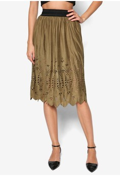 Ulrika Fake Suede Calf Skirt