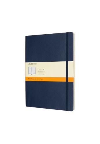 Moleskine blue Classic Notebooks Ruled Soft Blue Xl F68FFHL377F75EGS_1