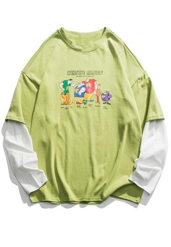 Twenty Eight Shoes Trend Printed Splicing T-Shirts HH0036 80253AA69C48ECGS_1