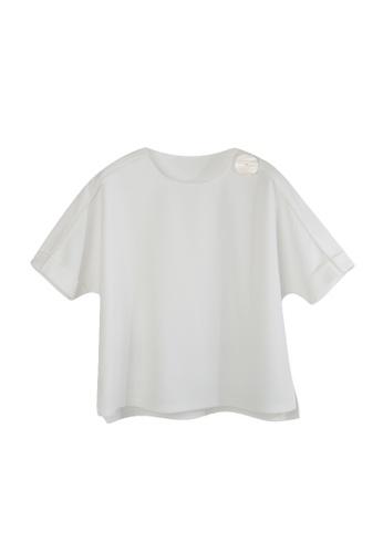 Giordano Ladies white Big Shell Button Batwing Top 08783AA60EFC3CGS_1