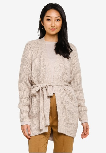 niko and ... beige Knitted Sashed Cardigan 80D8DAA2E06B24GS_1