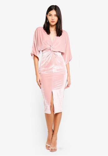 286d7e9fe6 Shop MISSGUIDED Velvet Plunge Twist Front Midi Dress Online on ZALORA  Philippines
