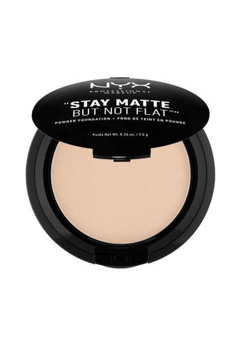 NYX Professional Makeup beige NYX Professional Makeup Stay Matte Powder Foundation- NUDE 21BCABE4579563GS_1
