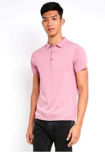 Jack & Jones pink Rigor Knitted Polo C7E3FAA55DD98DGS_1