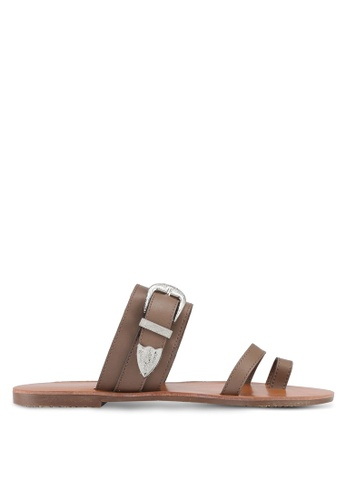 Something Borrowed brown Buckle Detail Sandals 5F708SH3811B56GS_1