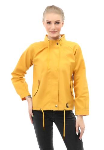 Hamlin gold Hardwin Jacket Outer Wanita Fashionable Material Baby Canvas ORIGINAL - Gold 5F91DAAC82C602GS_1