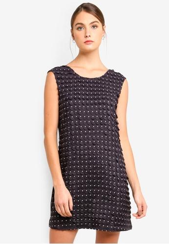Armani Exchange navy Lazer Dots Sleeveless Dress 3540BAADDDC41AGS_1