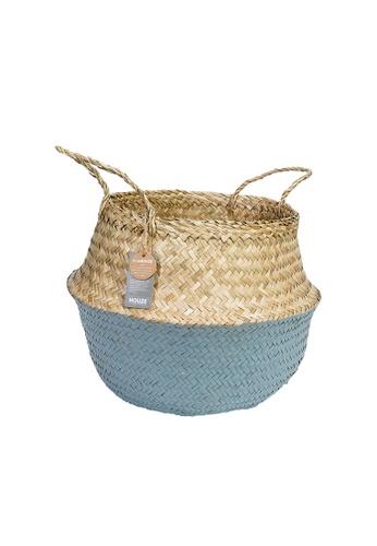 HOUZE grey ecoHOUZE Seagrass Plant Basket With Handles - Grey (Large) 40CA4HL7999401GS_1