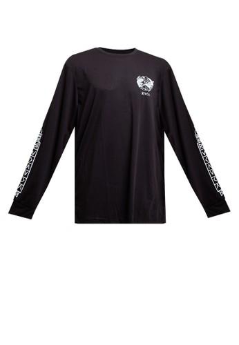 RVCA black Protection From Long Sleeve Tee F059FAA17E86B7GS_1