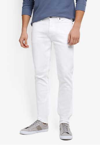 CR7 white Low-Rise Skinny Jeans CR532AA0SYHYMY_1