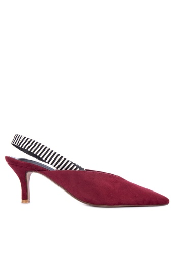 2d2a77e57ed Shop Janylin Slingback with Kitten Heel and Stripe Combination Online on ZALORA  Philippines