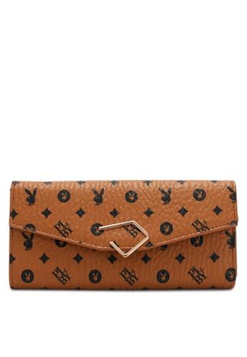 PLAYBOY BUNNY brown Women's Long Purse / Wallet 2A124AC24044C2GS_1