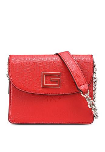 Guess red Blane Mini Flap Crossbody Bag DCC9BAC22546E9GS_1