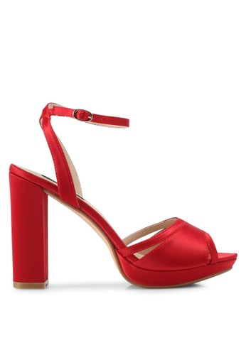 ZALORA red Cut-Out Detail Front Strap High Heels 86CD7SH4709212GS_1