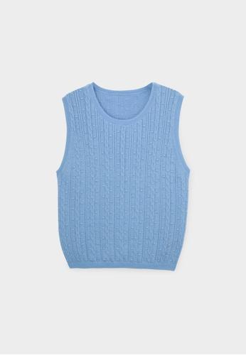 Pomelo blue Sustainable Cotton Knit Tank - Blue 0A95BAA51E6CE1GS_1