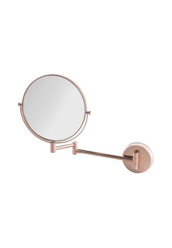 JVD JVD Lifestyle Fiesta Wall-Mounted Double-Side Mirror, 1 side with 3X magnification, Rose Gold Chrome finishing 69BD6HLA831366GS_1