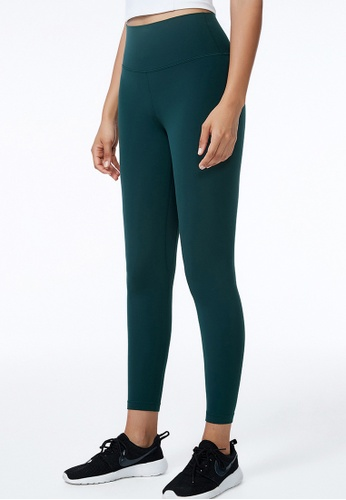 B-Code green ZWG5001-Lady Quick Drying Running Fitness Yoga Sports Leggings-Green F24FCAAE437624GS_1