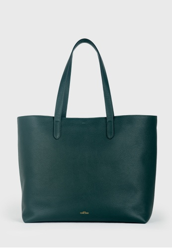 Tocco Toscano green Aimee Leather Tote (Green) 46505AC37B7131GS_1