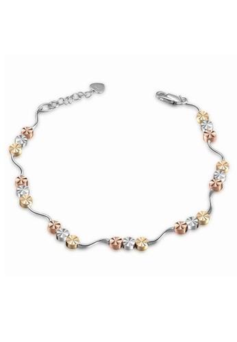 MaBelle silver 14K/585 White Gold Wave Circle Bracelet 8235DAC816D2B4GS_1