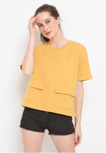 Cocolulu yellow Bree Pocket Top 82B94AA6741FEFGS_1