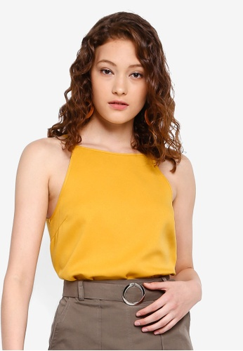 64eb679810894d Shop ZALORA BASICS Basic High Square Neck Cami Top Online on ZALORA  Philippines