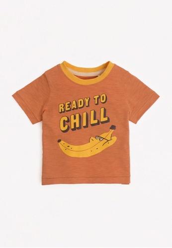 Gingersnaps brown Baby Boys Banana T-Shirt 4A716KAE06BA66GS_1