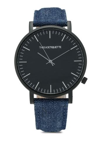 Thread Etiquette multi Classic-Matte Black/Denim Timepiece DC963AC1351EF3GS_1